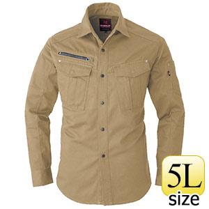 長袖シャツ 5505−23 カーキ (5L)