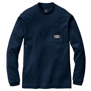 ロングTシャツ 4060−3 ネイビー (S〜XXL)