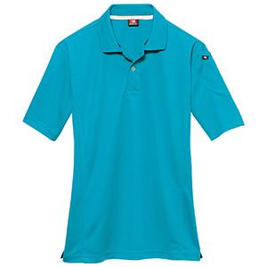 半袖ポロシャツ 305−046 ターコイズ (SS〜3L)