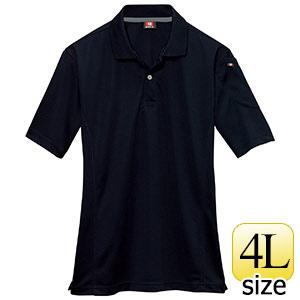 半袖ポロシャツ 305−035 ブラック (4L)