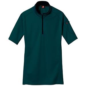半袖ジップシャツ 415−017 クーガー (SS〜3L)