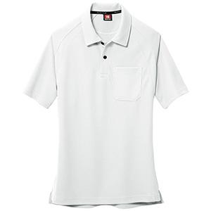 半袖ポロシャツ 105−029 ホワイト (SS〜3L)