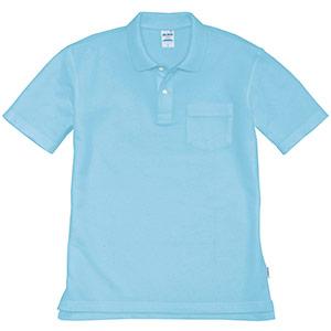 半袖ポロシャツ 205−048 サックス (SS〜3L)
