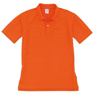 半袖ポロシャツ 205−084 オレンジ (SS〜3L)