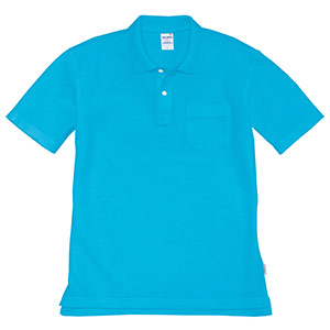 半袖ポロシャツ 205−046 ターコイズ (SS〜3L)