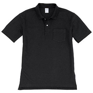 半袖ポロシャツ 205−035 ブラック (SS〜3L)
