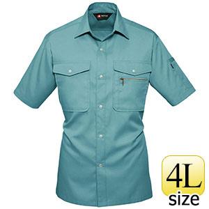半袖シャツ 621−4 ミストブルー (4L)
