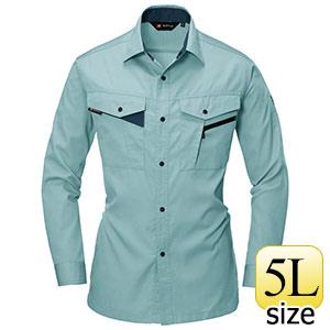 長袖シャツ 6023−1 アースグリーン (5L)