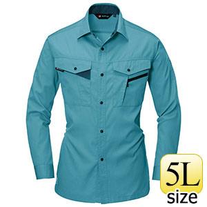 長袖シャツ 6023−4 ミストブルー (5L)