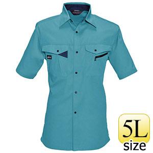 半袖シャツ 6025−4 ミストブルー (5L)
