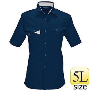 半袖シャツ 6025−3 ネイビー (5L)