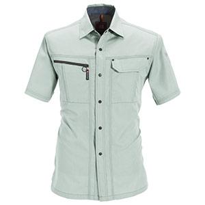 半袖シャツ 6065−1 アースグリーン (S〜3L)