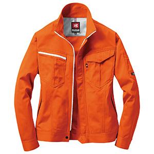 ジャケット 6081−84 オレンジ (SS〜3L)