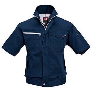 半袖ジャケット 6082−3 ネイビー (SS〜3L)