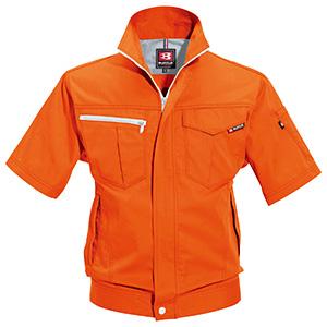半袖ジャケット 6082−84 オレンジ (SS〜3L)