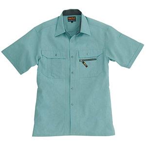 半袖シャツ 7035−1 アースグリーン (S〜3L)
