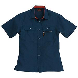 半袖シャツ 7035−3 ネイビー (S〜3L)