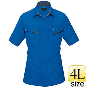 半袖シャツ 7065−42 ロイヤルブルー (4L)
