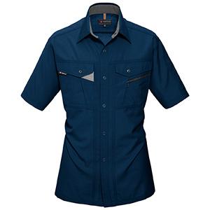 半袖シャツ 7065−3 ネイビー (S〜3L)