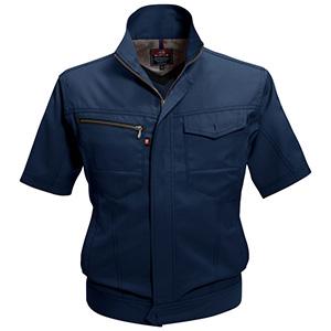 半袖ジャケット 7092−3 ネイビー (SS〜3L)