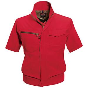 半袖ジャケット 7092−86 レッド (SS〜3L)