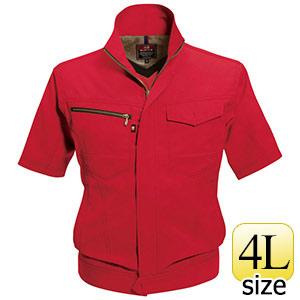 半袖ジャケット 7092−86 レッド (4L)
