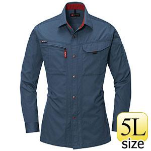 長袖シャツ 8023−36 スティール (5L)