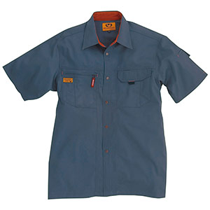 半袖シャツ 8025−36 スティール (S〜3L)