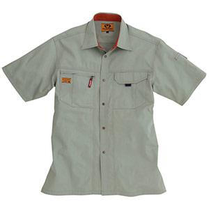 半袖シャツ 8025−21 グレージュ (S〜3L)