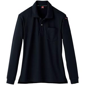 長袖ポロシャツ 505−35 ブラック (SS〜3L)