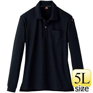 長袖ポロシャツ 505−35 ブラック (5L)