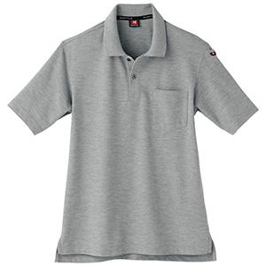 半袖ポロシャツ 507−56 ミドルグレー(杢) (SS〜3L)