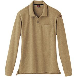 長袖ポロシャツ 505−24 キャメル(杢) (SS〜3L)