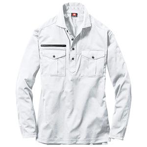 長袖シャツ 705−029 ホワイト (SS〜3L)