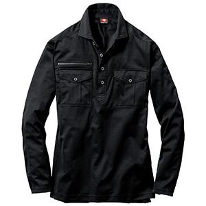 長袖シャツ 705−035 ブラック (SS〜3L)