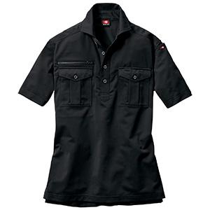 半袖シャツ 707−035 ブラック (SS〜3L)