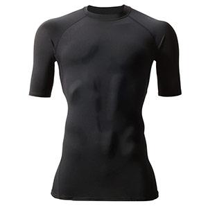 半袖クールフィッテッド 4042−35 ブラック (S〜XL)