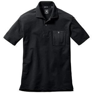 半袖ポロシャツ 667−035 ブラック (SS〜3L)