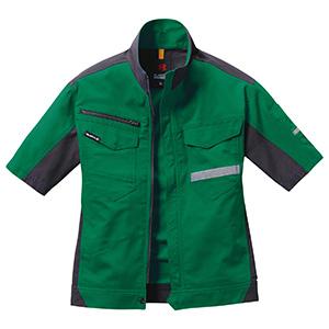 半袖ジャケット ユニセックス 9096−10 グリーン (SS〜3L)