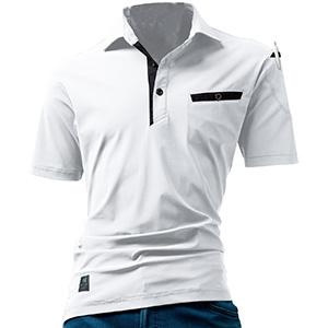 半袖アイスポロシャツ ユニセックス 227−29 ホワイト (S〜XXL)