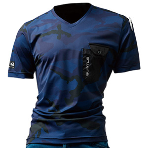 VネックTシャツ 4057−33 カモフラネイビー (M〜XXL)