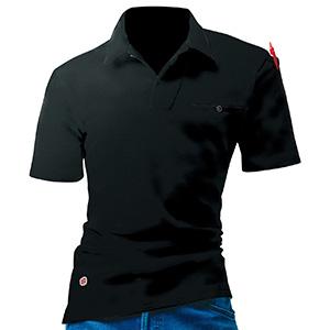 オープンカラーポロシャツ 4058−35 ブラック (M〜XXL)