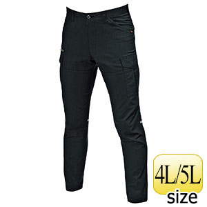 カーゴパンツ 9092−35 ブラック (4L・5L)