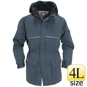 防寒コート 大型フード付 7111−36 スティール (4L)
