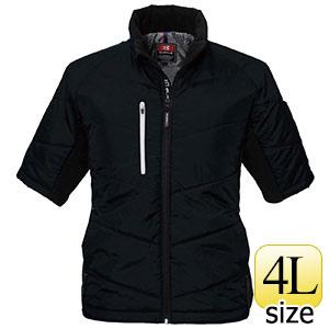 防寒半袖ブルゾン 7316−35 ブラック (4L)