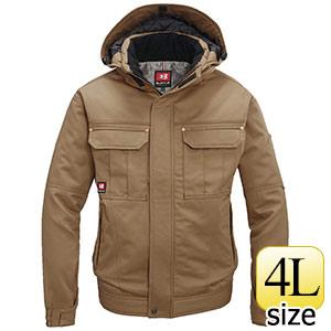 防寒ジャケット (大型フード付) 8110−24 キャメル (4L)