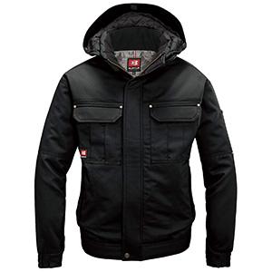 防寒ジャケット (大型フード付) 8110−35 ブラック (S〜3L)