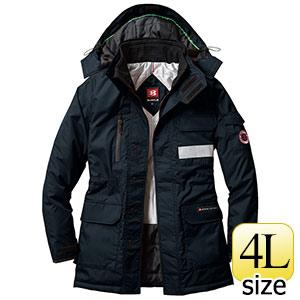 防寒コート 大型フード付 7211−35 ブラック (4L)
