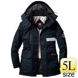 防寒コート 大型フード付 7211−35 ブラック (5L)