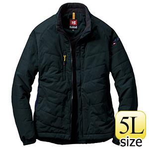 防風ストレッチ 軽防寒ブルゾン 7410−35 ブラック (5L)